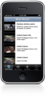 Unibet TV on iPhone - Released today!